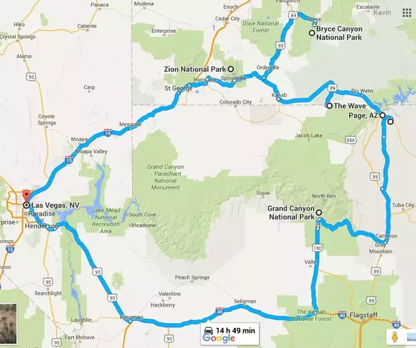 What is a good itinerary for a week long trip to the Grand Canyon