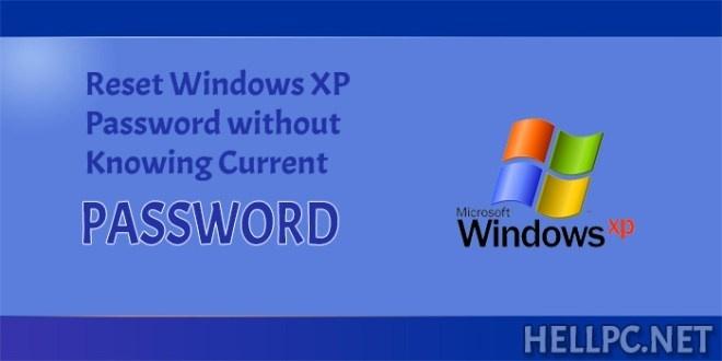 windows xp password reset