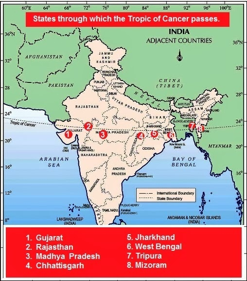 Tropic of cancer passes through which all districts in india quora gumiabroncs Image collections