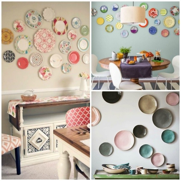 ... Used In Kitchens And Dining Rooms But As We Will See Here Can Also Be  Used In Any Other Room Of The House. 20 Ideas For Decorating Walls With  Dishes
