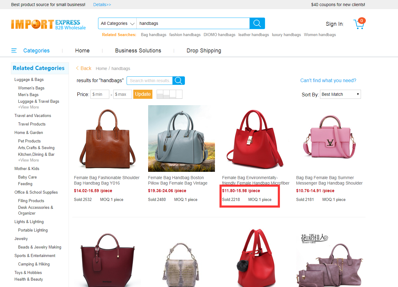 7e96724a46 Where can I wholesale the handbags for small order in China  - Quora