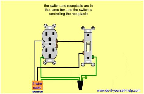 receptacle wiring diagram power switch box  1 8 inch stereo