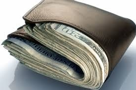 Image result for wallet with money in it