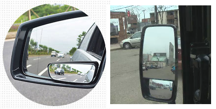how to put on convex mirrors car
