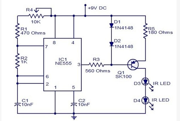 How to make a tv remote jammer circuit quora circuit diagram ccuart Choice Image