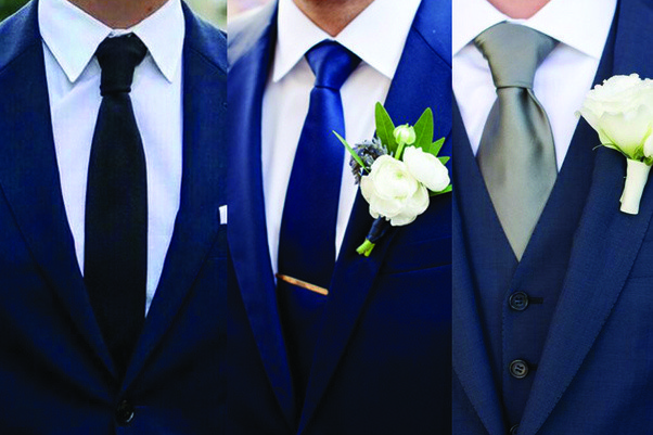 how to wear a navy brlue suit