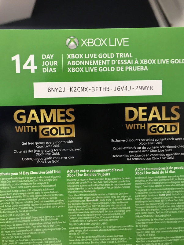 How to get the 14 days of Gold in my Xbox One - Quora