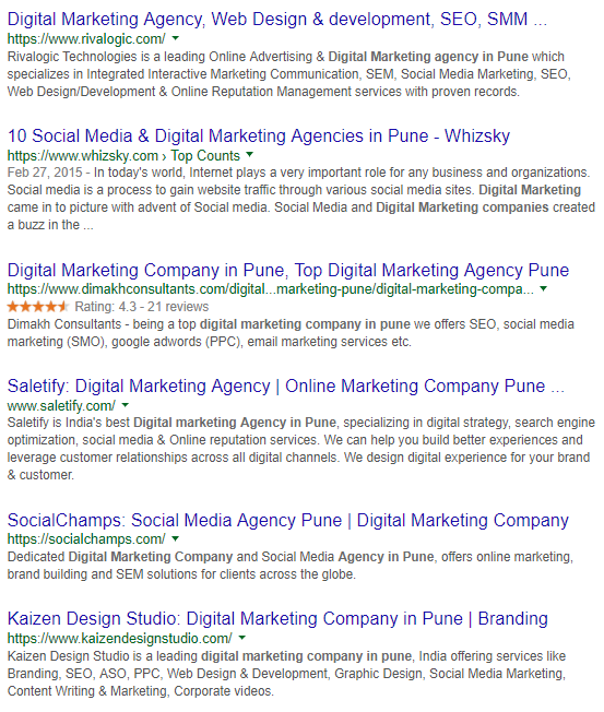 Which are digital marketing companies in Pune where freshers given a