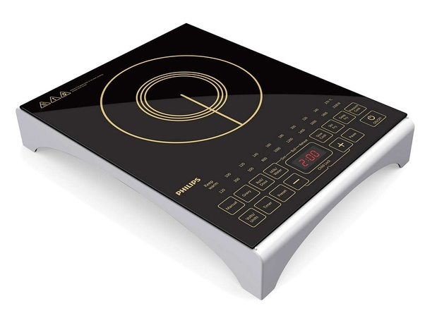 Philips HD4938 2100 Watt Induction Cooktop Is Beautifully And Elegantly  Designed With A White Base And A Black Upper Part Which Is Made Of Shining  Micro ...