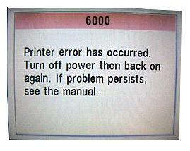 How to fix a Canon printer error 6000 - Quora