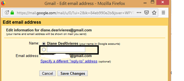 How to remove my ex's name from my Gmail account? Don't want
