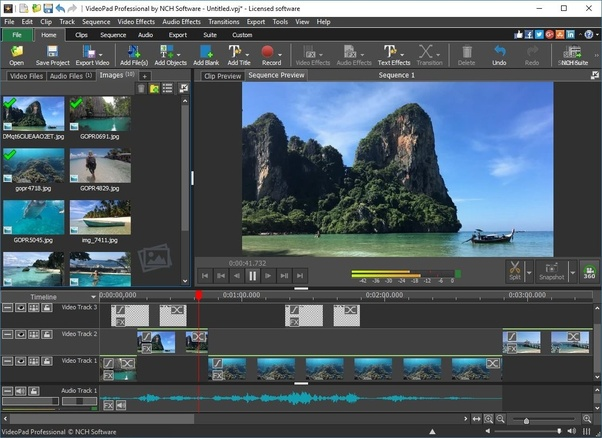 Whats an video editing software that is simpler and lighter than simply drag and drop video image text and audio clips to create your own movies videopad includes many useful features including video effects ccuart Choice Image