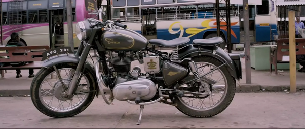 What is the model of a Royal Enfield used in the Arjun Reddy