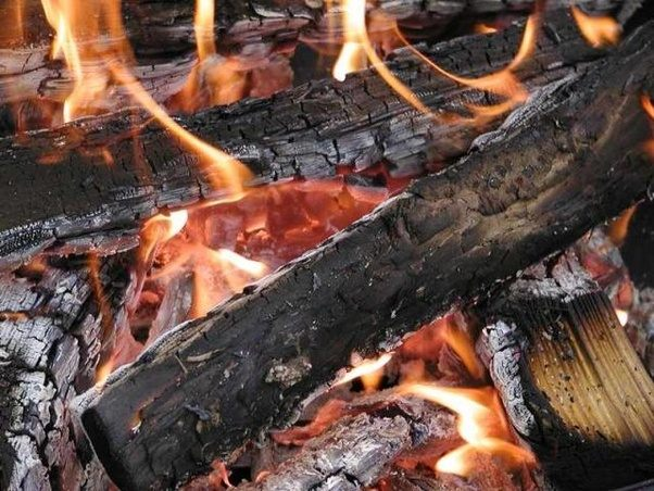 Bon Any Material Turns Into Black Only When It Is Set On Fire. For A Material  To Catch Fire It Must Be COMBUSTIBLE Ie. It Must Be A FUEL.