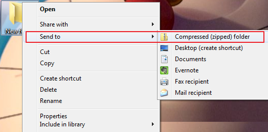 how to put a pdf file into a zip folder