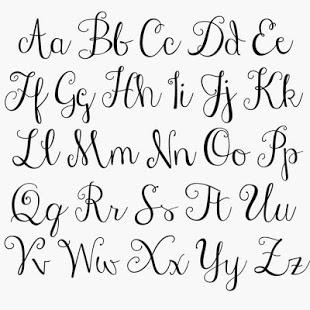 Huruf Kaligrafi Latin