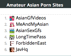 Asian porn catagories
