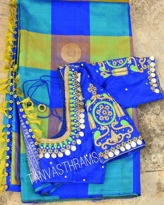 e4651b2af770a7 What are the blouse designs for a silk saree  - Quora