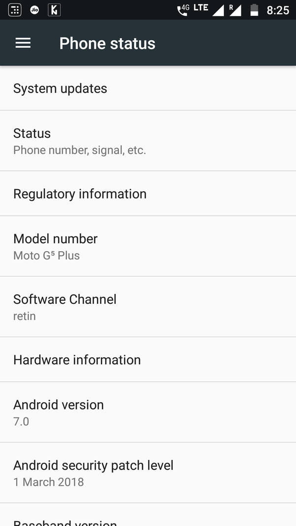 Does Moto G5 Plus get monthly security updates? - Quora