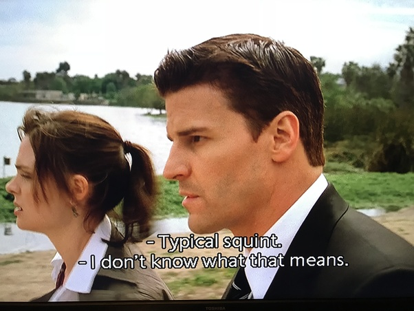 What does Booth call some people 'squints' on the TV show 'Bones