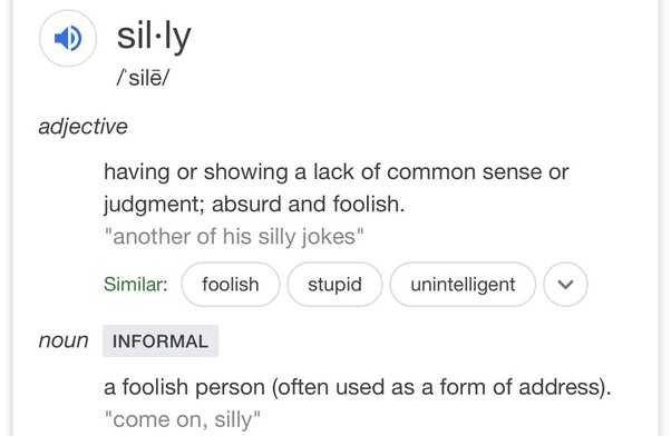 What is the original meaning of silly? - Quora