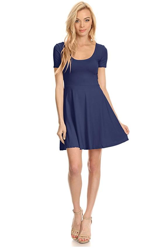 A Short Sleeve Skater Dress