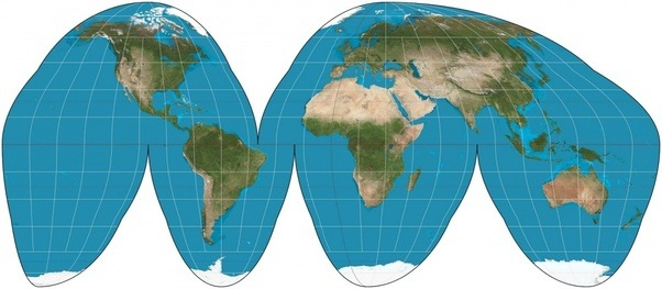 Is there a world map or globe that realistically shows the sizes of all of these maps have some form of distortion and are not 100 accurate they distort the map in different places when compared to the mercator projection gumiabroncs Gallery