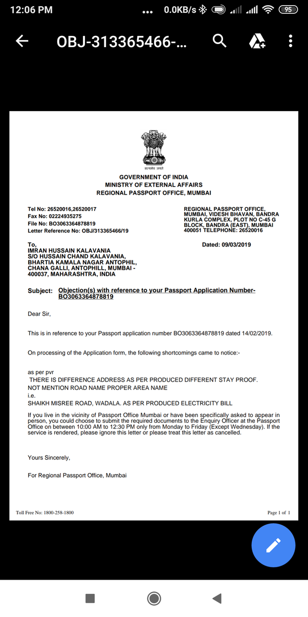 Can we produce an affidavit as an address proof for the
