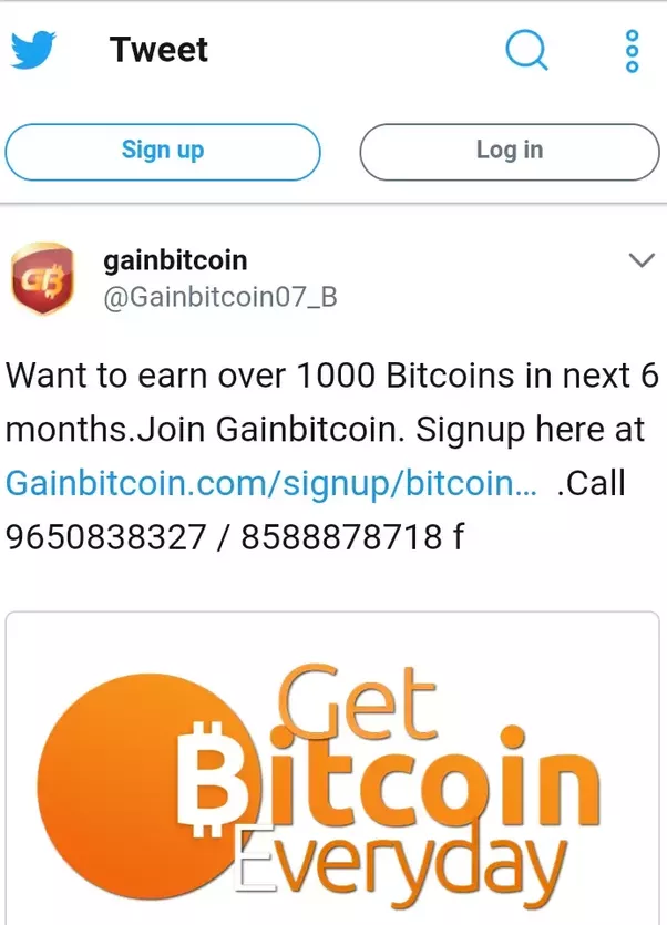 Is gainbitcoin a scam quora above is one of gainbitcoin advertisements earn 1000 bitcoins not even 1000 bitcoins but over 1000 bitcoins in next 6 months wow i couldnt even get 1 ccuart Images