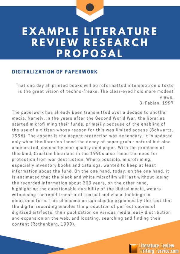 Literature research proposal