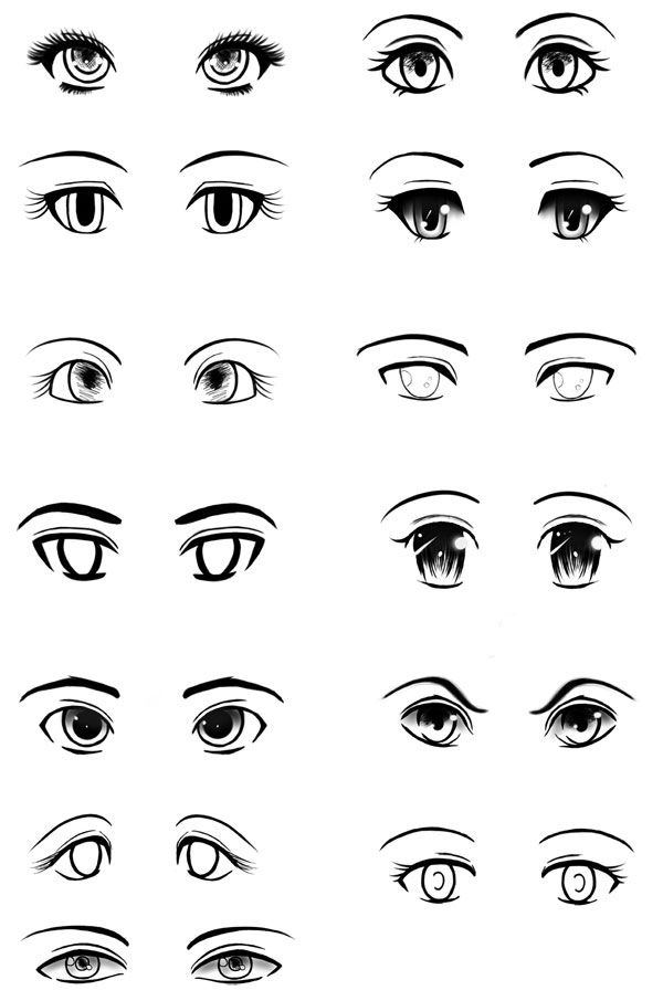 You can try drawing many kinds of style anime has a diverse style in drawing the eyes one of manga i like has different style of eyes on different