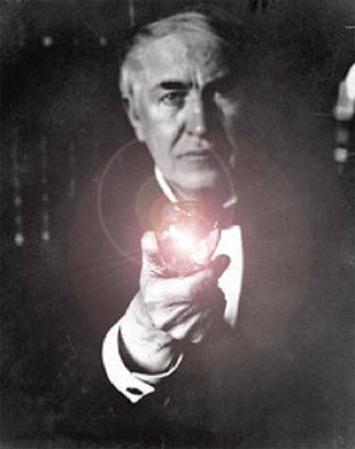 Thomas Edison In 1878 About The Time He Was Working On Incandescent Electric Lighting System