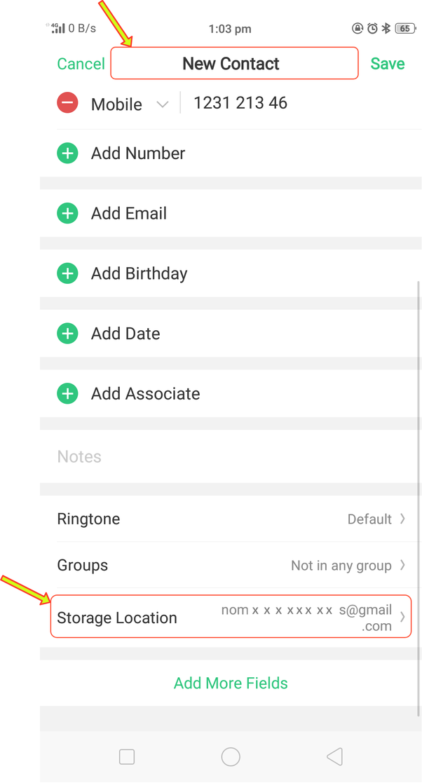 change gmail address on phone