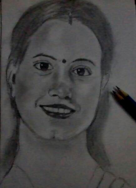 The first drawing male face i drew with an hb pencil only and for the second drawing female face i used only 6 b you can decide yourself after seeing