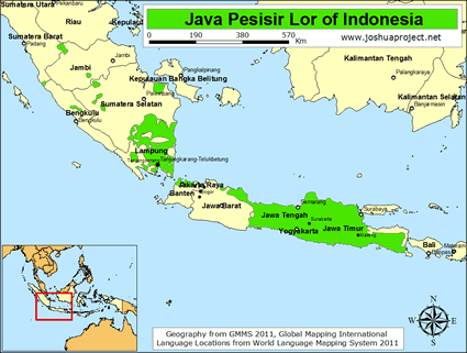 Java Location On The Indonesia Map