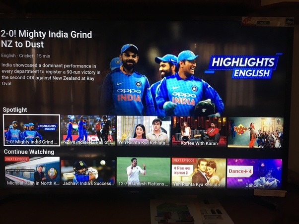 Can one stream Hotstar on a Samsung Smart TV like Amazon