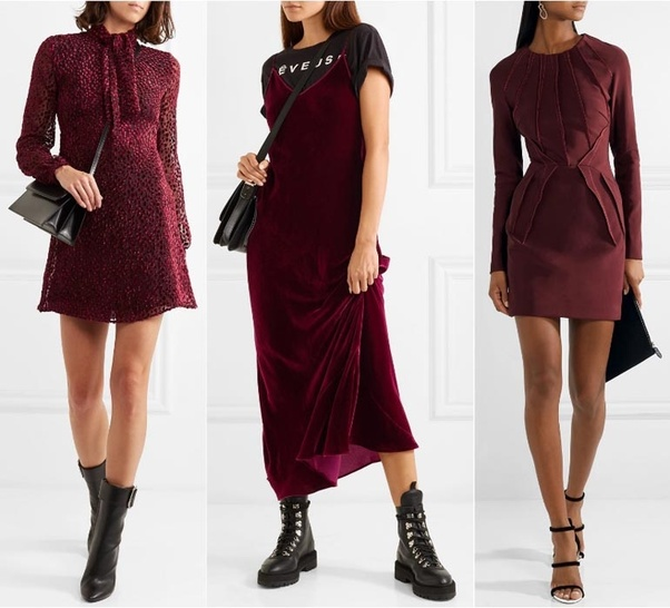 What Color Of Shoe Should I Wear With A Burgundy Dress Quora