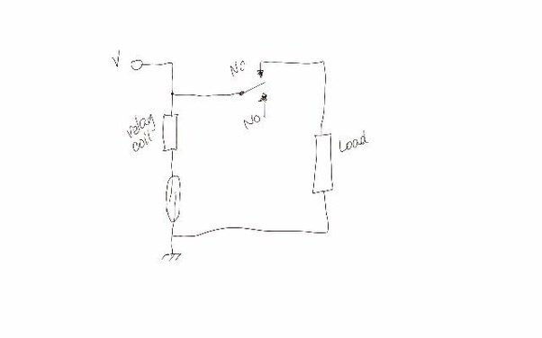 I want to make a simple circuit using a normally closed reed