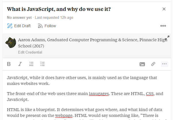 What is JavaScript, and why do we use it? - Quora