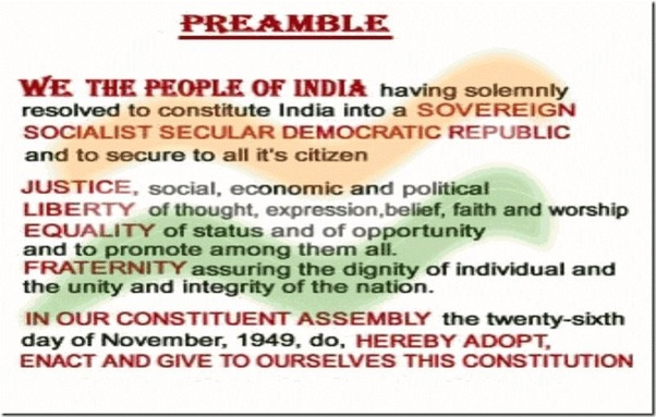 What is the Preamble to the Constitution of India? - Quora