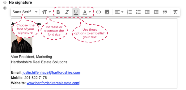 Is it possible to add HTML in a Gmail signature? - Quora