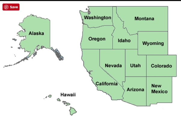What are the 11 western states? - Quora