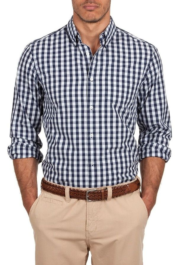 Which color pant matches for dark blue checks shirt quora for Black brown mens shirts