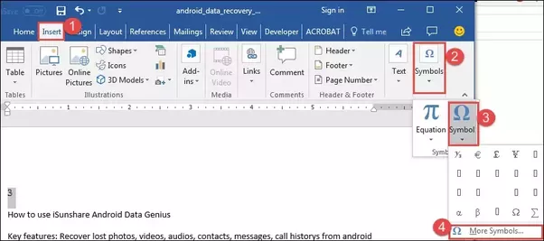 How To Put A Squared Symbol In Microsoft Word Quora