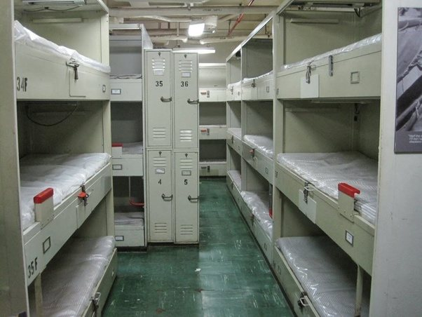 What are the dimensions of navy ship bunks? - Quora