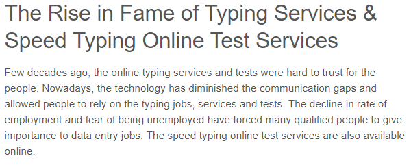 How is a typing test done for a government job? - Quora