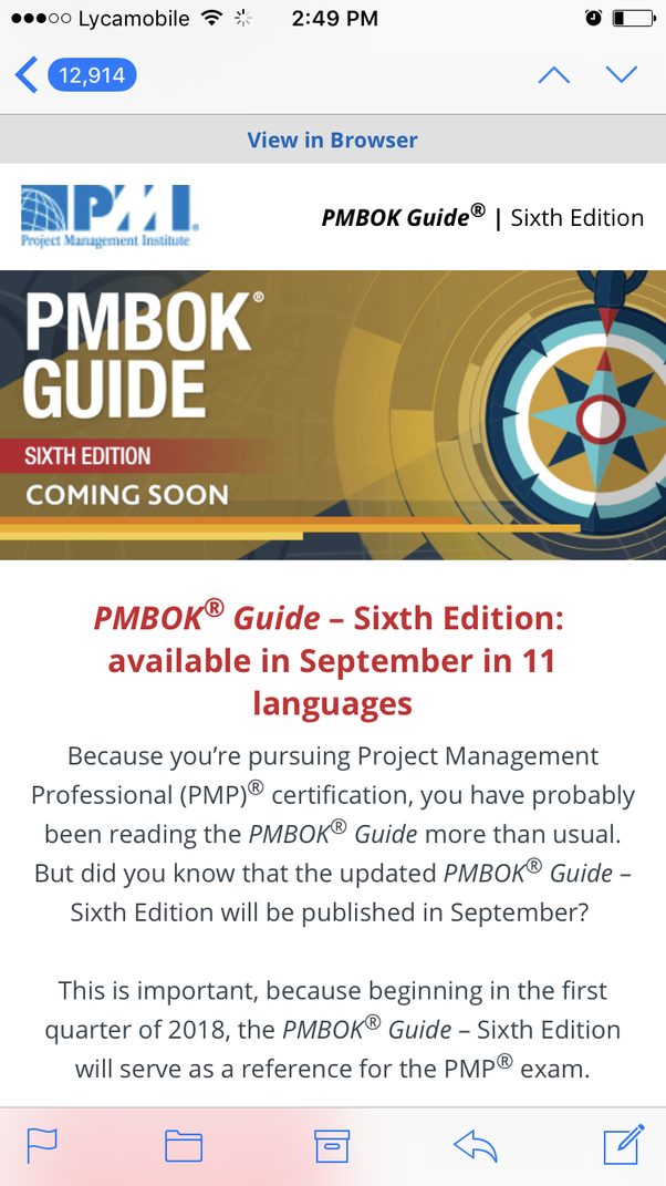 I Am Planning On Giving My Pmp Certification Exam As Of 2017 Which