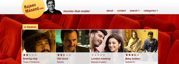 Which Are The Top Rated Movies By Indian Movie Critic Rajeev Masand Quora