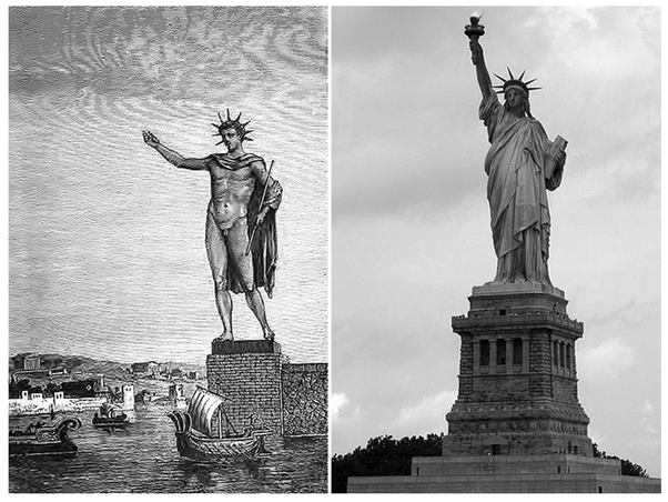 45c58949a The Colossus of Rhodes and the Statue of Liberty | USA.GreekReporter.com