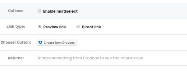 Dropbox Direct Link